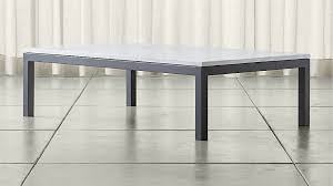 rectangle coffee table with glass top parsons white marble top dark steel base 60x36 large rectangular