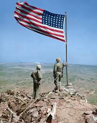 Saipan Flag Extraordinary Colorized Photographs Show Us Marines Battling In