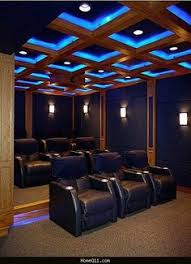 Home Theater And Media Room Ideas Bench Seat Recliner And Stone - Home theater interior design