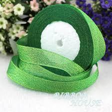 glitter ribbon wholesale 25 yards roll 1 25mm green metallic glitter ribbon colorful