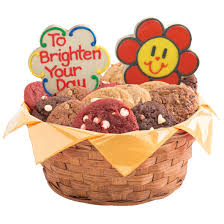 cookie baskets delivery smiley daisies cookie basket cookies by design