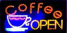 Open Light Up Sign Led Coffee Sign Ebay