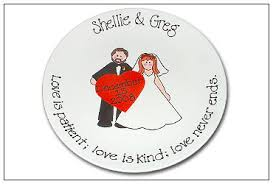 personalized wedding plate serendipity crafts november 2008 guest signature platter