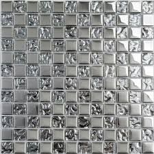 Kitchen Plated Backsplash Wall Tile Borders Decorative Tile Plated - Silver backsplash