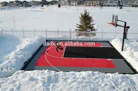 easy to install diy basketball court pickleball court backyard