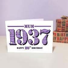 1937 mum happy 80th birthday card