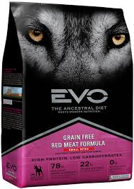 evo red meat formula small bites dog food 6 6 lb bag reviews