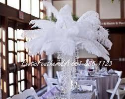 Feather Vase Centerpieces by Exoticfeathersla Ostrich Feather Center By Exoticfeathersla