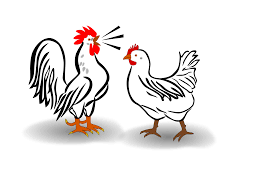 clipart rooster and chicken