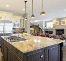 Islands For Kitchens by Hanging Lights Kitchen Islands For Large Space With Simple Stove