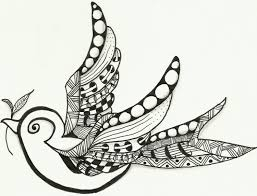 little bird zentangle youtube