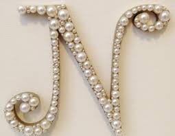 pearl monogram cake topper curly pearl monogram cake topper any letter