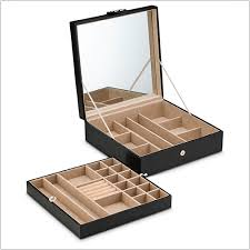 box necklace holder images Jewelry box organizer 28 sections choice of 3 colors glenor co png