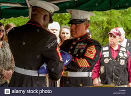 Flag Corps Marines With Marine Corps Logistics Base Albany Funeral Detail