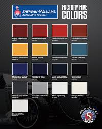 factory five paint colors factory five racing