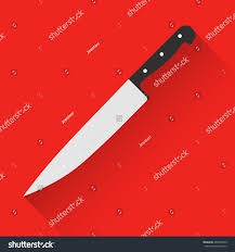 vector kitchen chef knife flat style stock vector 402858739