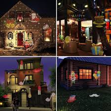 House Christmas Light Projector by Outdoor Waterproof Led Halloween Christmas Lights Projector