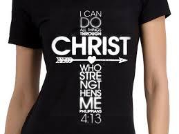 philippians 4 13 cross sleeve shirt bh29052
