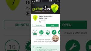 guitar tuna apk how to uninstall or update guitar tuner free guitartuna and news
