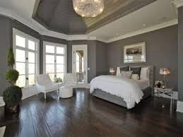 Light Gray Paint by Wooden Laminating Floor In Gray Wall Bedroom Paint Color