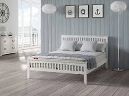 4ft Wooden Bed Frame 3ft 4ft 4ft6 5ft Sandhurst White Wooden Bed Frame Ebay