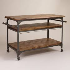 Extra Kitchen Storage Furniture Wood And Metal Jackson Kitchen Cart Kitchen Carts Acacia Wood