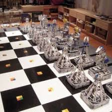 this amazing monster chess set is made from 100 000 lego blocks