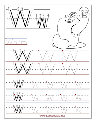 printable letter w tracing worksheets for preschool going gluten