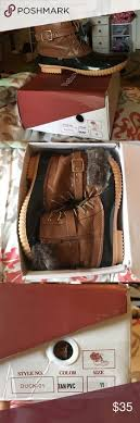 womens duck boots size 11 bed stu lies folded s boots size 11 nwob