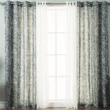 Sheer Grommet Curtains Paisley Sheer Curtains U0026 Drapes You U0027ll Love Wayfair