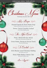 christmas menu template v1 flyer templates creative market