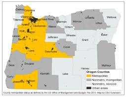 County Map Of Oregon by City Size And Economic Integration Are You Metro Micro Noncore