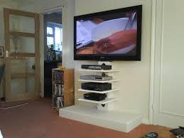 floating shelves for entertainment center living room snodster