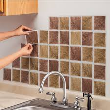 stick on kitchen backsplash tiles innovative ideas how to install self adhesive backsplash adhesive