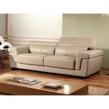 canapé haut de gamme en cuir canapé 3 places en cuir supérieur beige evasion achat vente