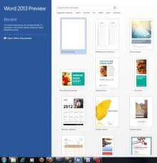 online templates in word 2013