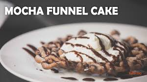 mocha funnel cake funnel cake recipe how to make funnel cake