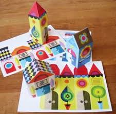 Paper Craft Home Decor Diy Free Printable Happy Little Paper Houses By Ellen Giggenbach