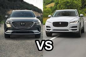 jaguar jeep inside 2016 jaguar f pace vs 2017 mazda cx 9 design youtube