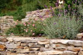 Rock Garden Wall Stacking Stones Garden Wall Rustic Retaining Wall Building A