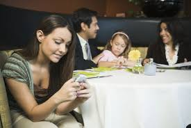 Phone faux pas  Researchers say that even having your handset on the table can offend Daily Mail