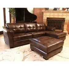 venezia leather sectional and ottoman top grain leather sectional and ottoman by abbyson living new