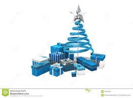 blue and silver christmas gifts stock illustration image 44133391
