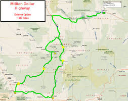 Colorado Front Range Map Million Dollar Highway Map Million Dollar Delores Jpg Colorado