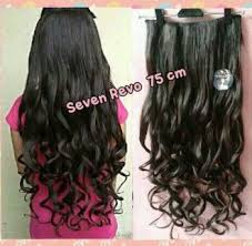 jual hair clip hair clip big layer curly keriting 70 cm kode hcp321
