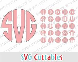 3 letter monogram circle monogram font 3 letter monogram front svgcuttablefiles