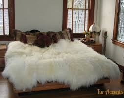 Fur Area Rug Shag Sheepskin Faux Fur Area Rug Thick Mongolian
