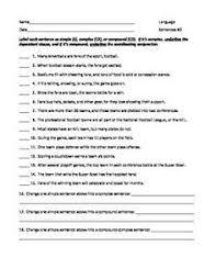identifying sentence types worksheet free worksheets library