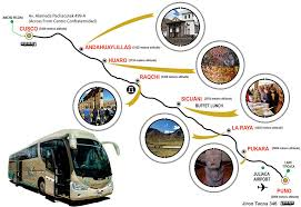 Lake Titicaca Map Inka Express Service Tourist Bus