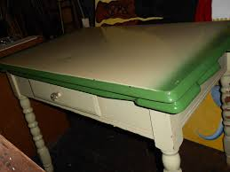 kitchen vintage retro metal top green kitchen table with fold